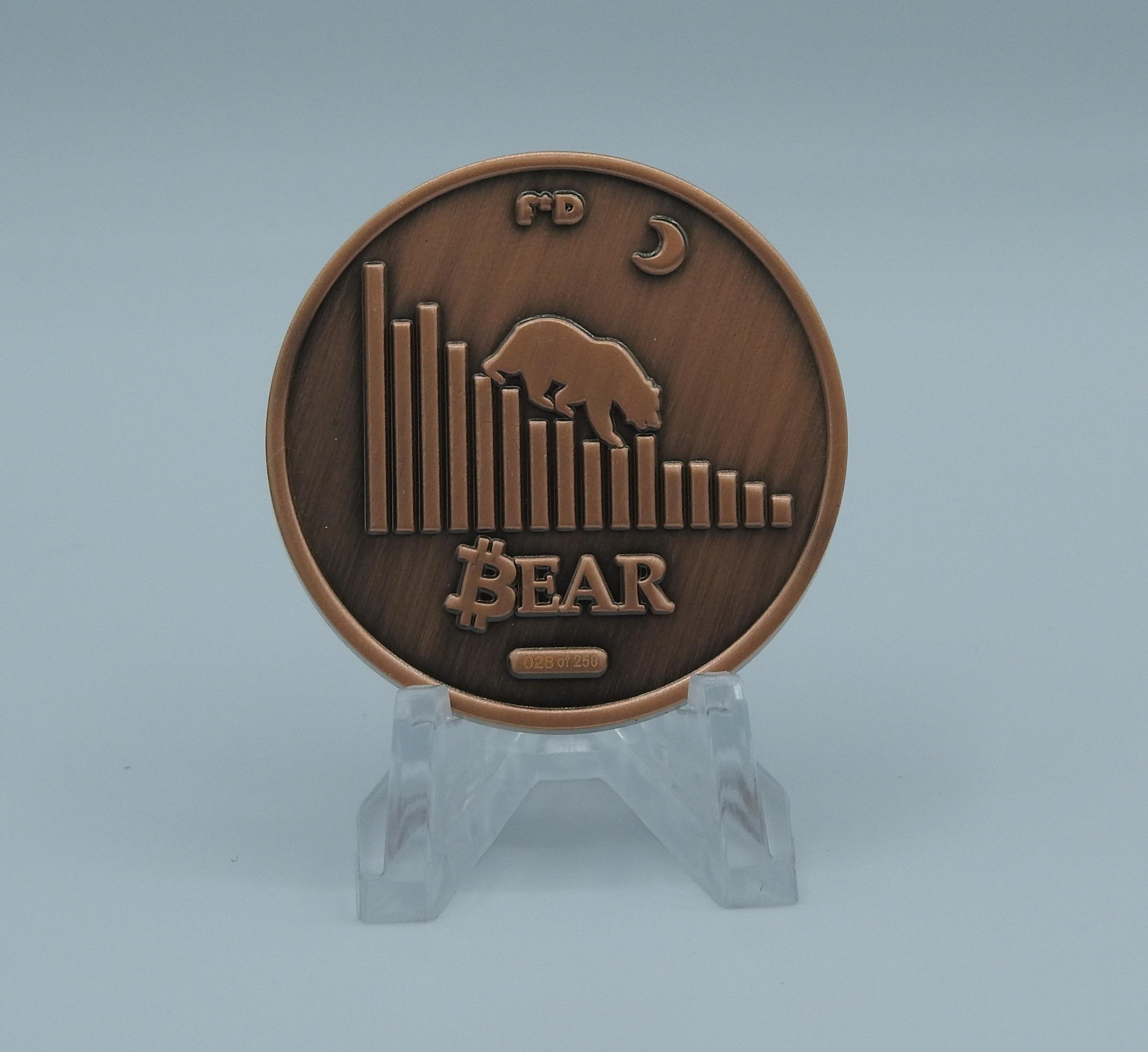 2 Faces Of Bitcoin Bull Vs Bear 4 Coin Set Finite By