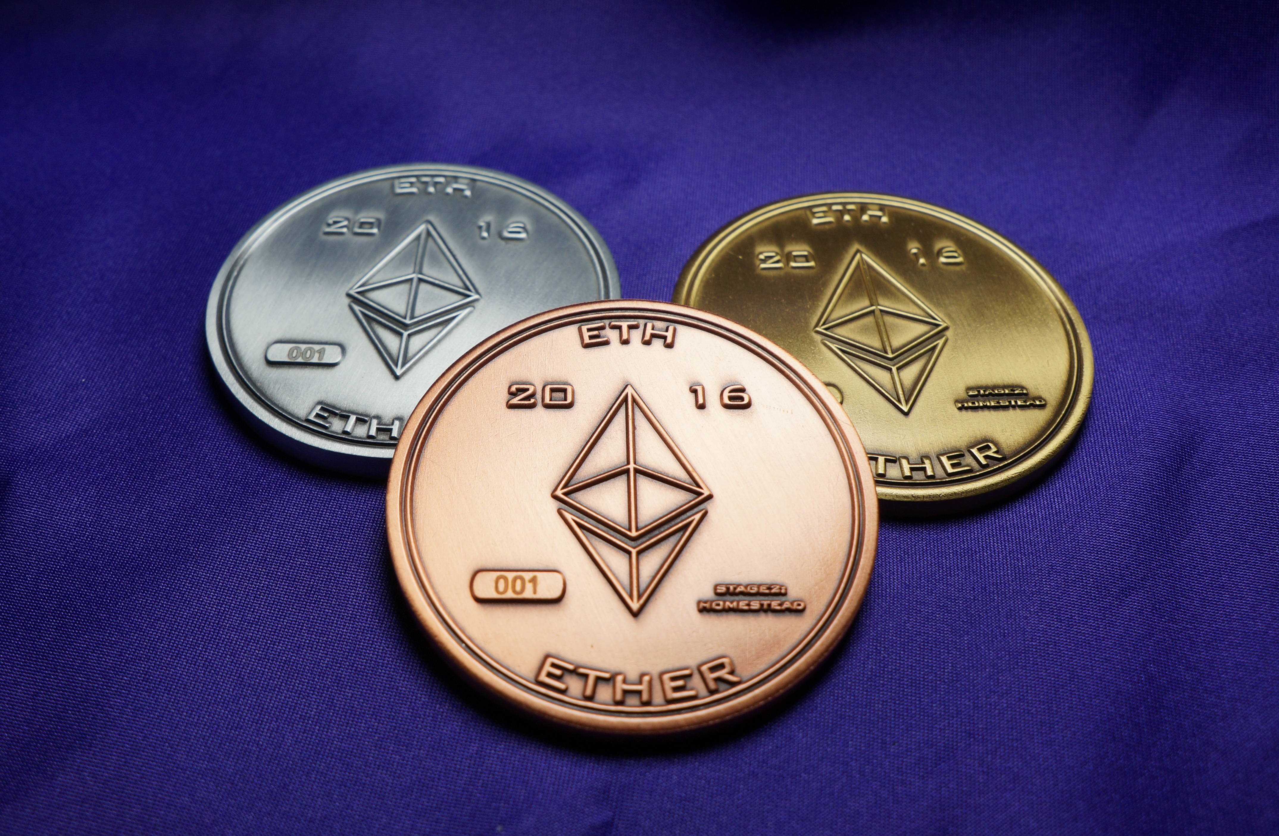 3 Pack Of 2 Ethereum Homestead Ether Coins 1 Of Each